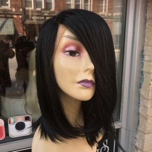 Accessories - Black Bob wig SidePar Lacefront Wig 2020 Swisslace